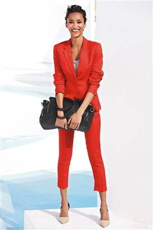 Celebrities Were Wearing Variations Of The Red Trouser Suit I Love As It Is Such A Vibrant And Sharp Colour Am Really Tempted By This NEXT