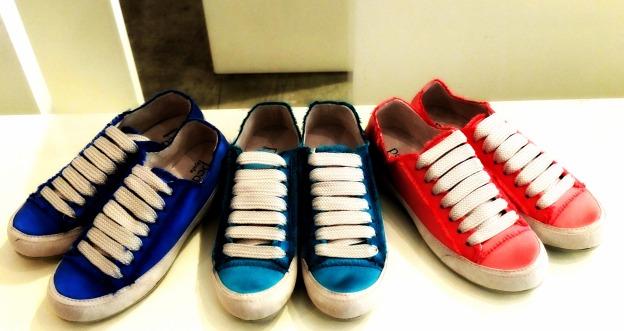 dream satin sneakers